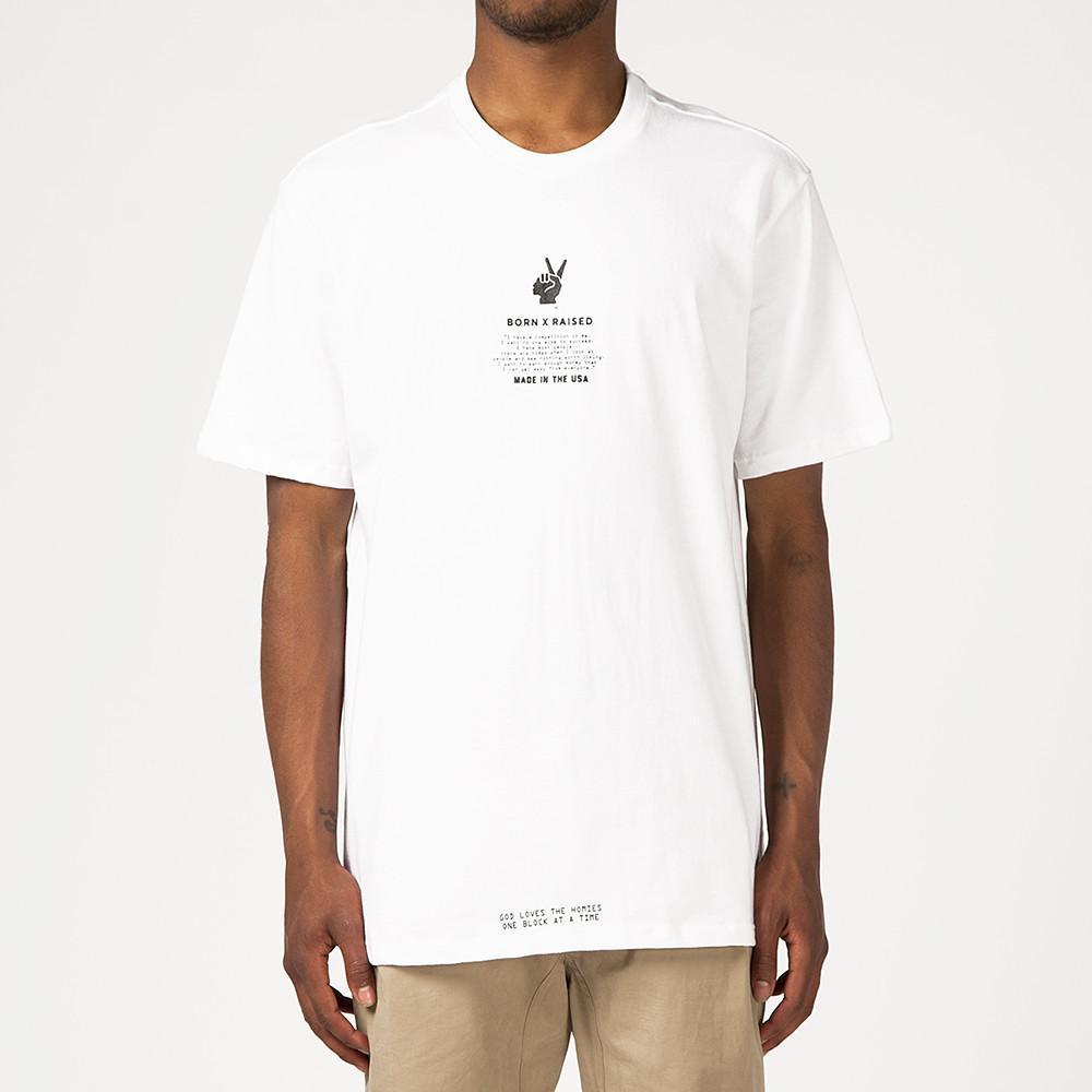 BORN X RAISED HOKA T-SHIRT / WHITE