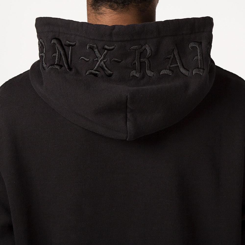 BORN X RAISED TONAL PULLOVER HOODY / BLACK