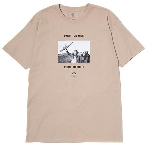 BORN X RAISED FIGHT PARTY T-SHIRT / SAND - 1
