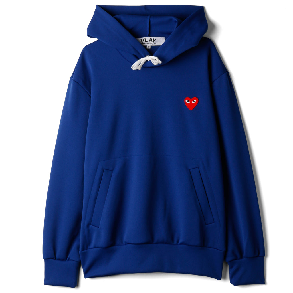 COMME des GARÇONS PLAY Red Heart Pullover Hoodie / Navy