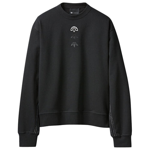 ADIDAS ORIGINALS BY ALEXANDER WANG LOGO CREW / BLACK