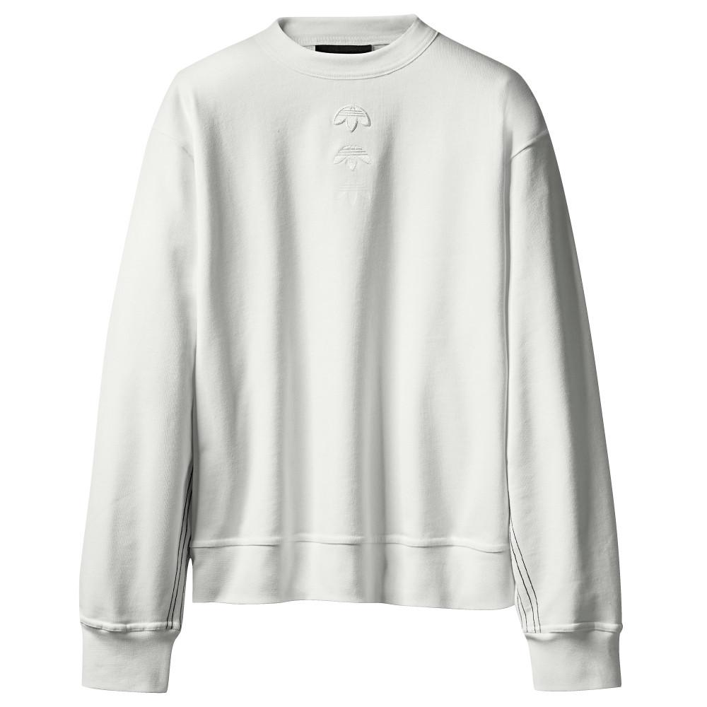 style code CE2497 . ADIDAS ORIGINALS BY ALEXANDER WANG LOGO CREW / CORE WHITE