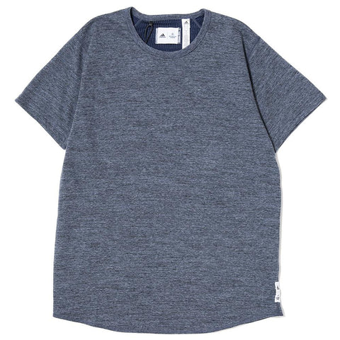 ADIDAS X REIGNING CHAMP SS T-SHIRT / HEATHER NAVY