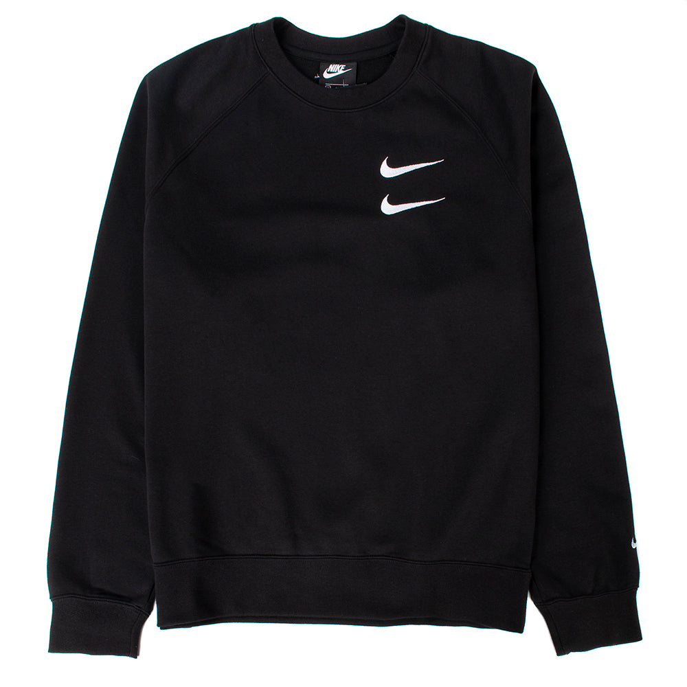 Nike Sportswear Swoosh French Terry Crewneck / Black
