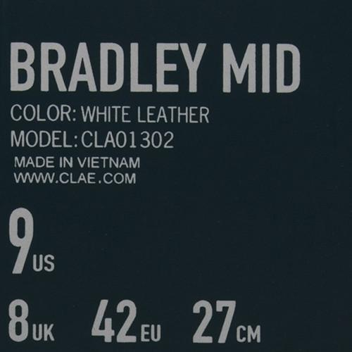 CLAE BRADLEY MID / WHITE LEATHER - 7