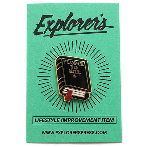EXPLORER'S PRESS PEOPLE TO KILL LAPEL PIN - 1