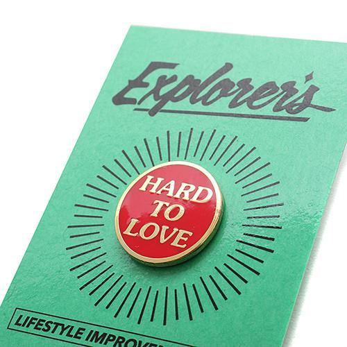 EXPLORER'S PRESS HARD TO LOVE LAPEL PIN - 2