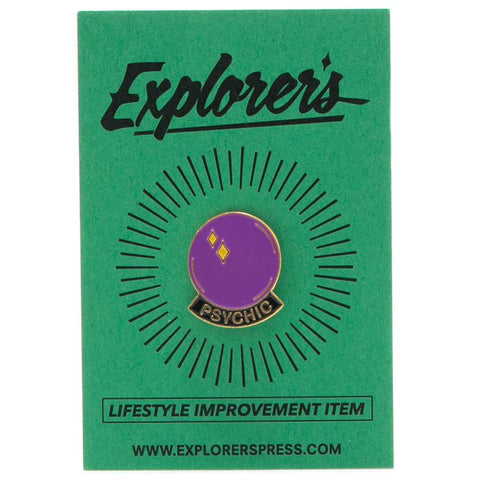 EXPLORER'S PRESS CRYSTAL BALL LAPEL PIN - 1