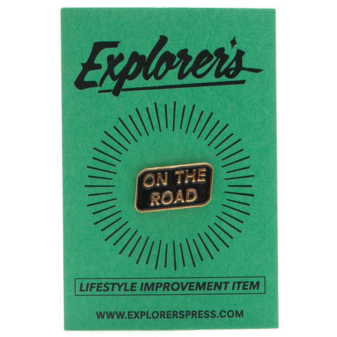 EXPLORER'S PRESS ON THE ROAD LAPEL PIN - 1