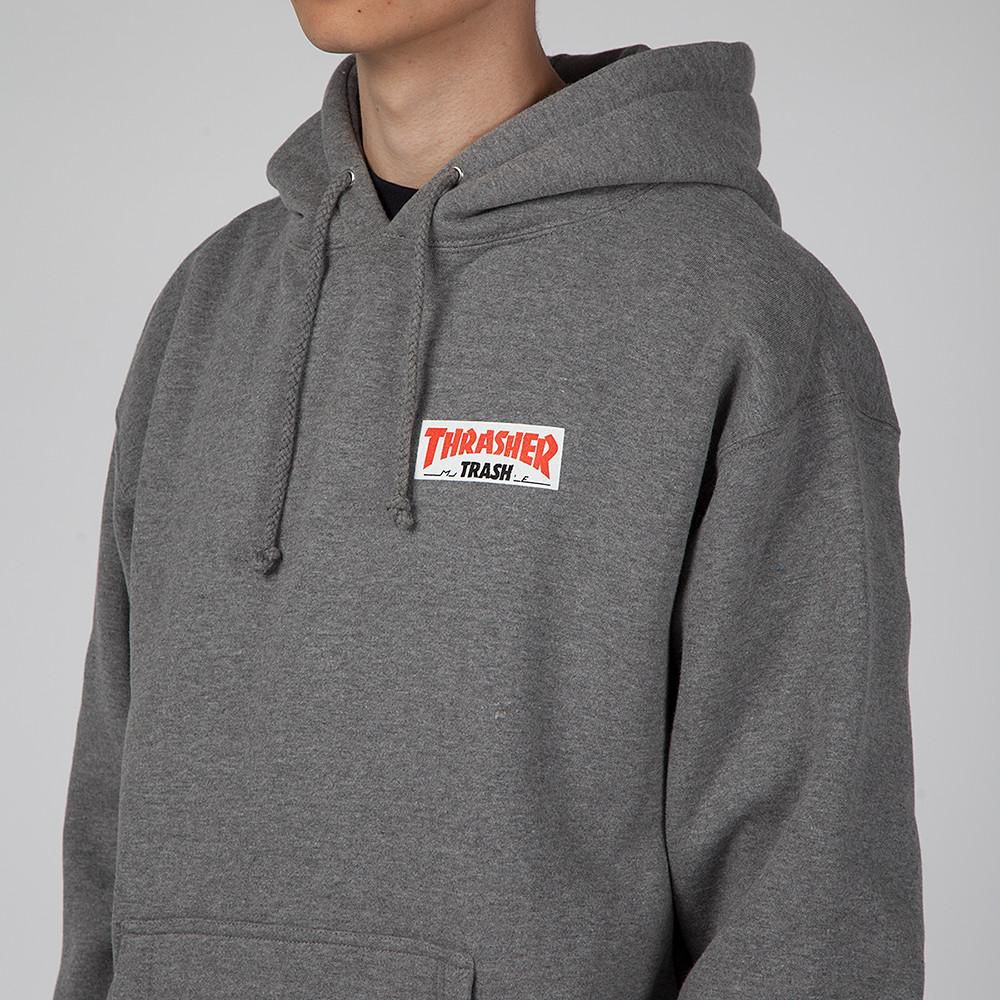 FUCKING AWESOME X THRASHER TRASH ME PULLOVER HOODIE / HEATHER GREY