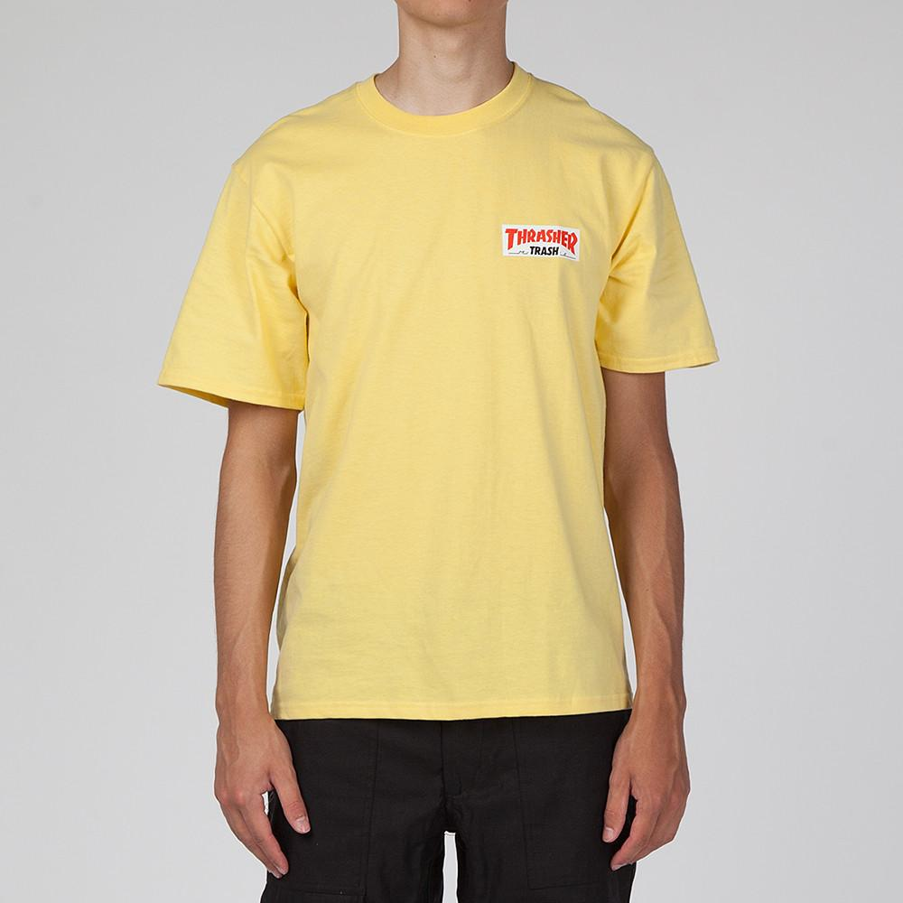 FUCKING AWESOME X THRASHER TRASH ME T-SHIRT / YELLOW