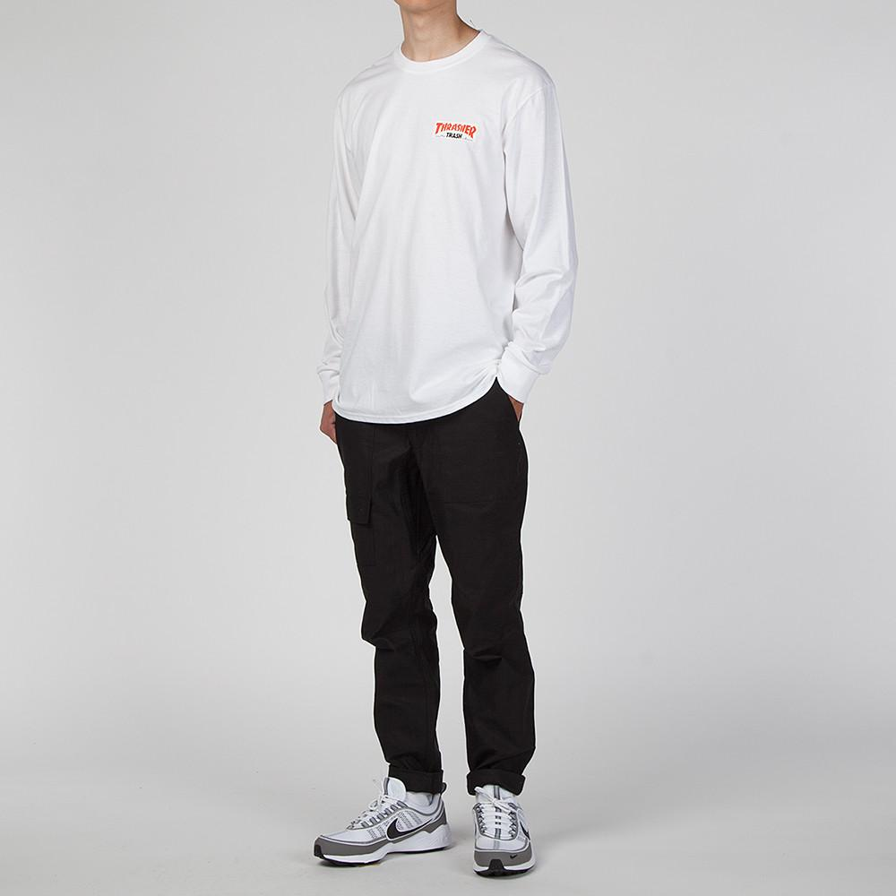 FUCKING AWESOME X THRASHER TRASH ME LONG SLEEVE T-SHIRT / WHITE