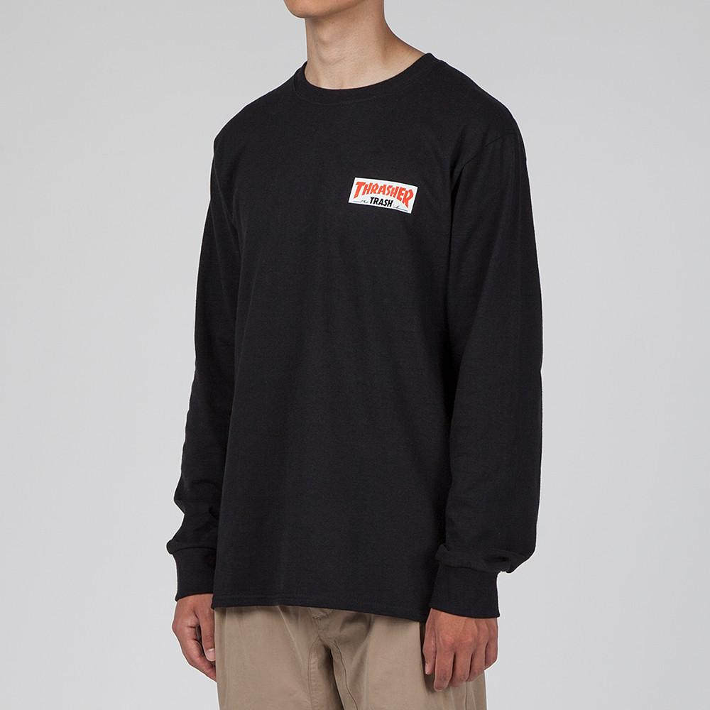 FUCKING AWESOME X THRASHER TRASH ME LONG SLEEVE T-SHIRT / BLACK