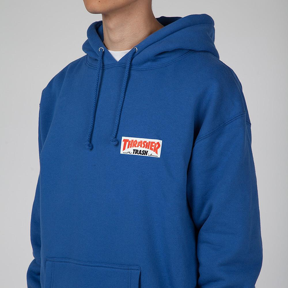 FUCKING AWESOME X THRASHER TRASH ME PULLOVER HOODIE / BLUE