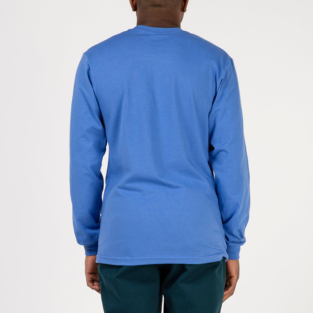 Fucking Awesome Chrome Long Sleeve T-shirt / Flo Blue