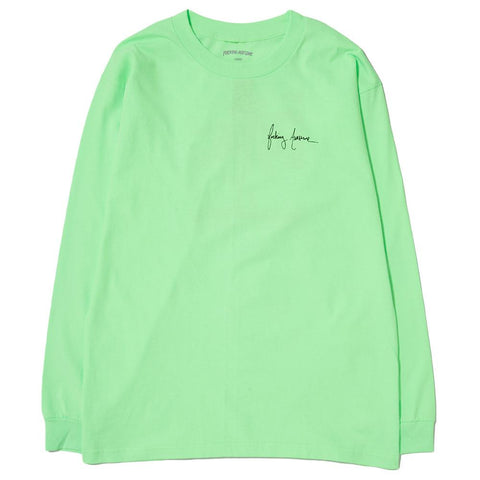 FUCKING AWESOME NEVER LONG ENOUGH LONG SLEEVE T-SHIRT / LIME