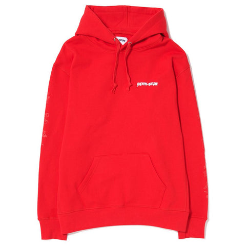 FUCKING AWESOME DICTIONARY SLEEVE PULLOVER HOOD / RED