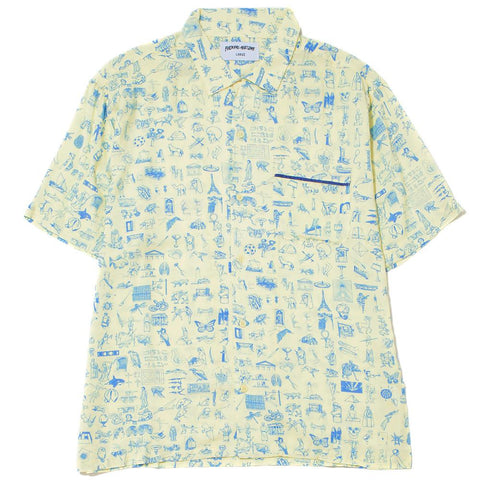 FUCKING AWESOME DICTIONARY CABANA BUTTON UP / YELLOW