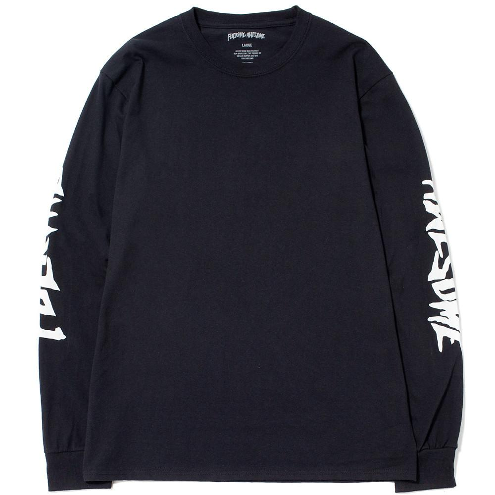style code FASU17TS012BLK. FUCKING AWESOME KB COLLAGE LONG SLEEVE T-SHIRT / BLACK
