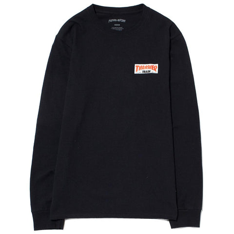style code FATHRFA17BBLK. FUCKING AWESOME X THRASHER TRASH ME LONG SLEEVE T-SHIRT / BLACK
