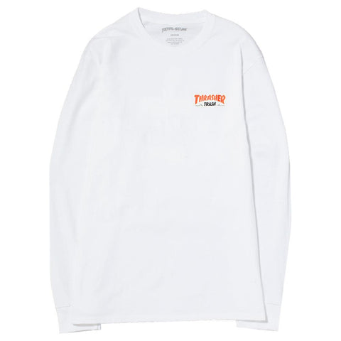style code FATHRFA17BWHT. FUCKING AWESOME X THRASHER TRASH ME LONG SLEEVE T-SHIRT / WHITE
