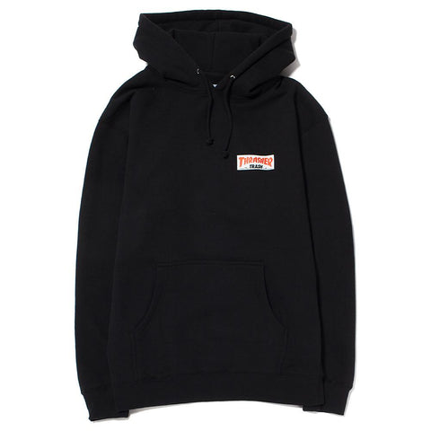 style code FATHRFA17CBLK. FUCKING AWESOME X THRASHER TRASH ME PULLOVER HOODIE / BLACK