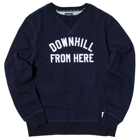 HUF DFH FLEECE CREWNECK / INDIGO BLUE - 1
