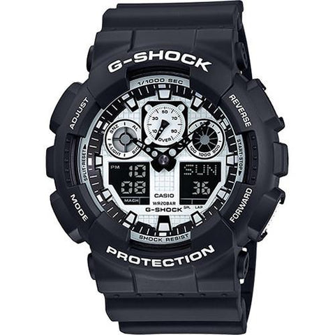 G-SHOCK GA100BW-1A BLACK / WHITE