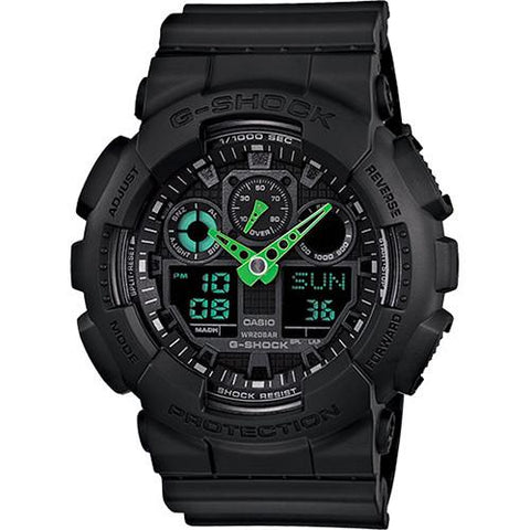 G-SHOCK GA100C-1A3 NEON HIGHLIGHTS / GREEN