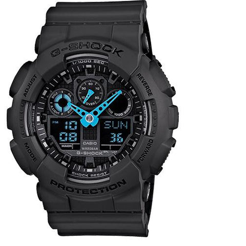 G-SHOCK GA100C-8A NEON HIGHLIGHTS / BLUE