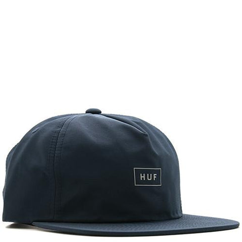 HUF BAR LOGO JAPANESE COTTON NYLON 60/40 STRAPBACK / NAVY - 1