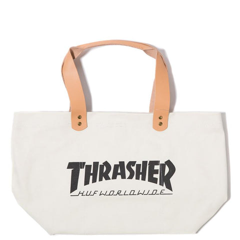 HUF X THRASHER CANVAS TOTE / WHITE - 1