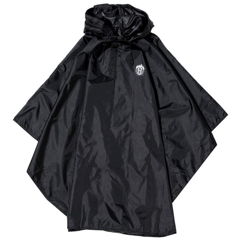 HUF X THRASHER PACKABLE RAIN PONCHO / BLACK - 1