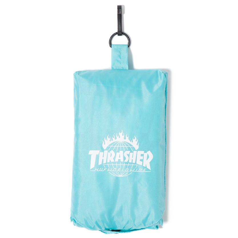 HUF X THRASHER PACKABLE RAIN PONCHO / MINT - 7