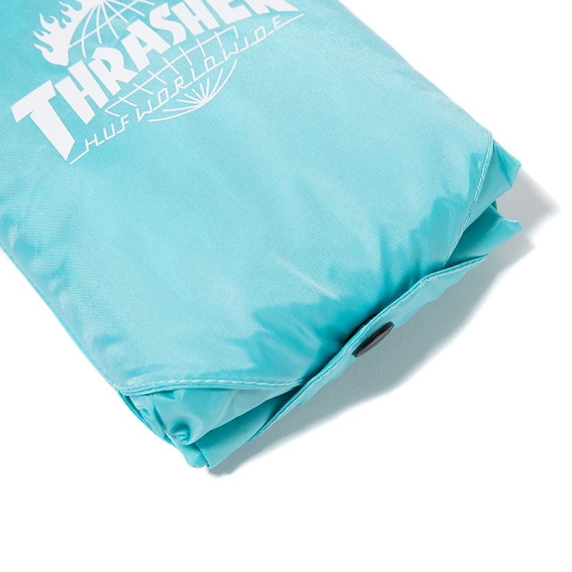HUF X THRASHER PACKABLE RAIN PONCHO / MINT - 9
