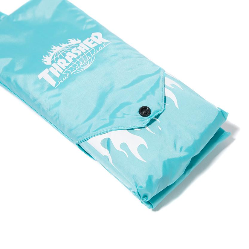 HUF X THRASHER PACKABLE RAIN PONCHO / MINT - 10