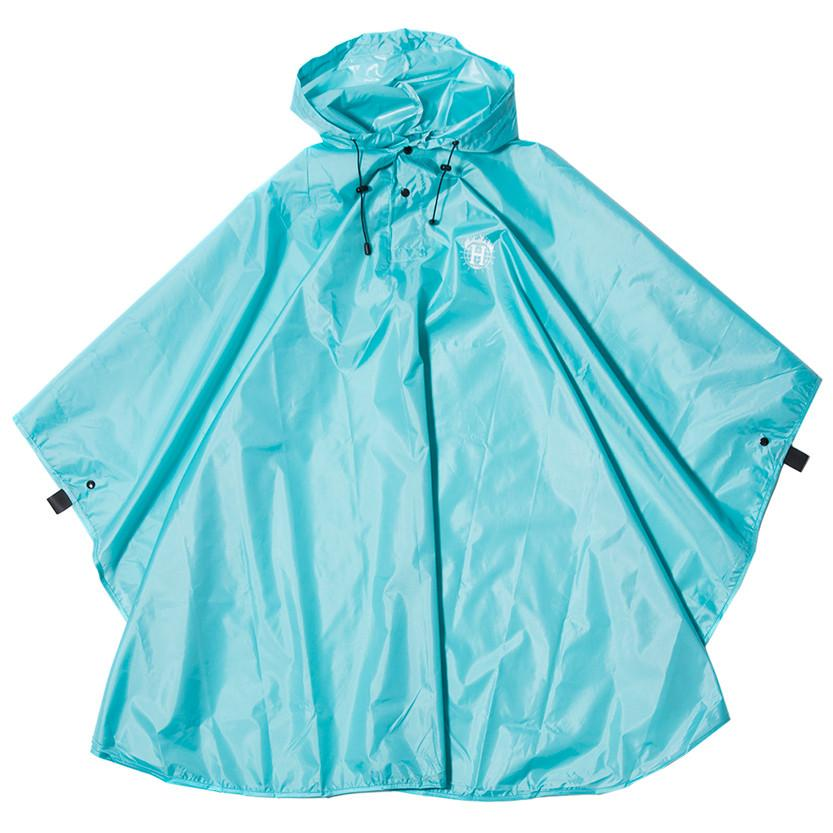 HUF X THRASHER PACKABLE RAIN PONCHO / MINT . style code HUFAC65M04TDSMN