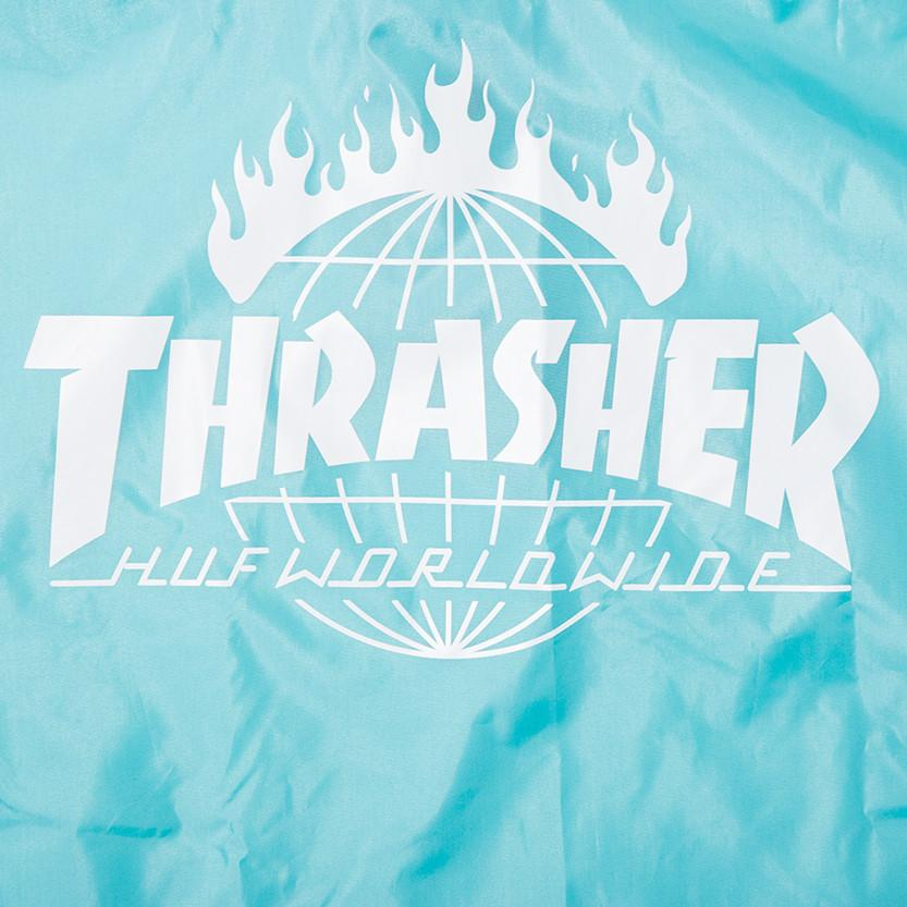 HUF X THRASHER PACKABLE RAIN PONCHO / MINT - 6