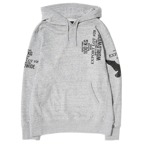 HUF EXPORT PULLOVER HOODY / GREY HEATHER