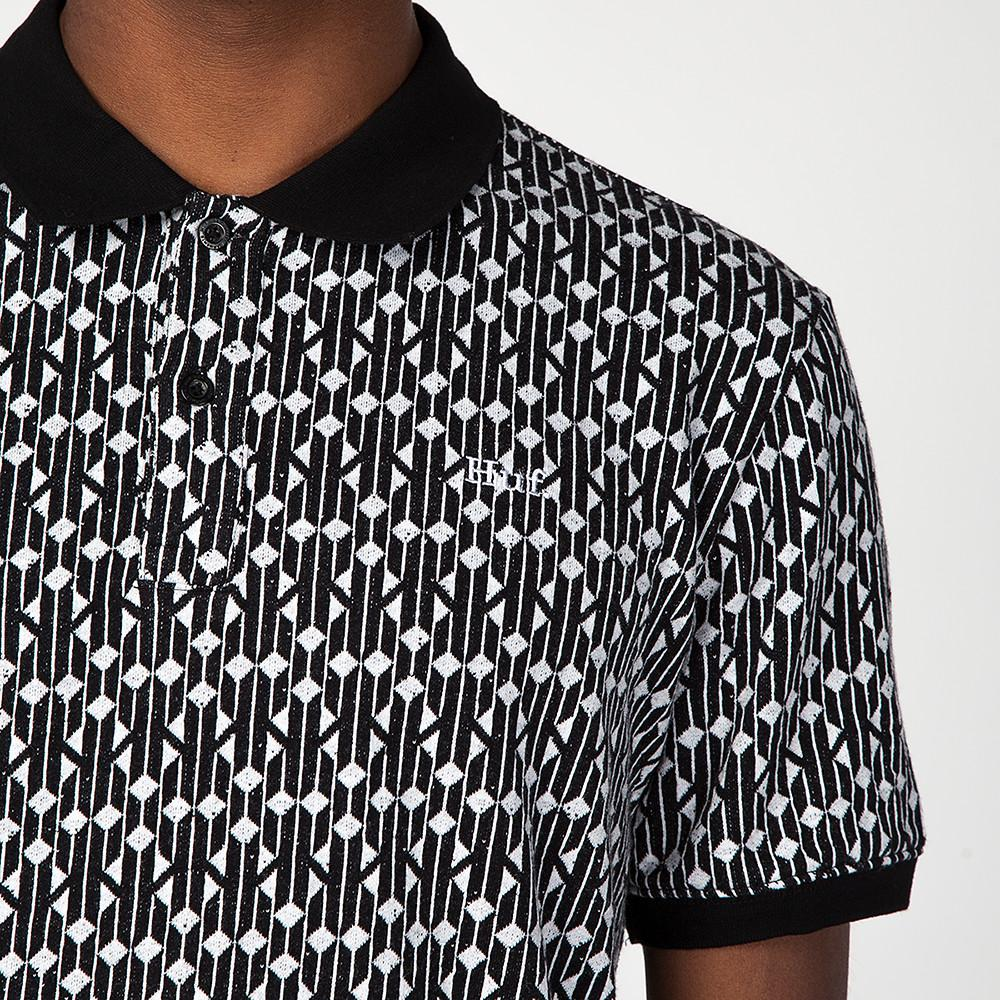 HUF ESCHER POLO / BLACK