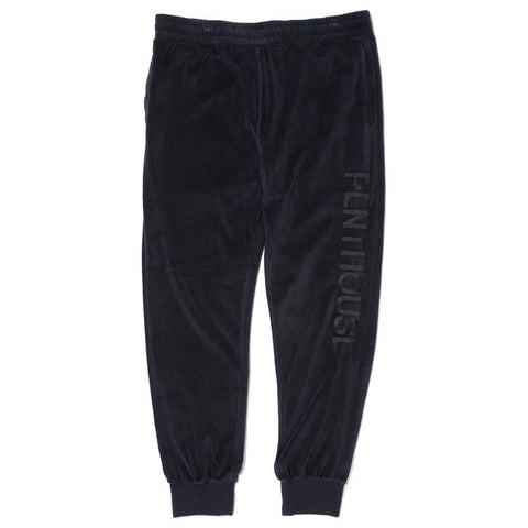 HUF X PENTHOUSE VELVET SWEAT PANTS / BLACK - 1