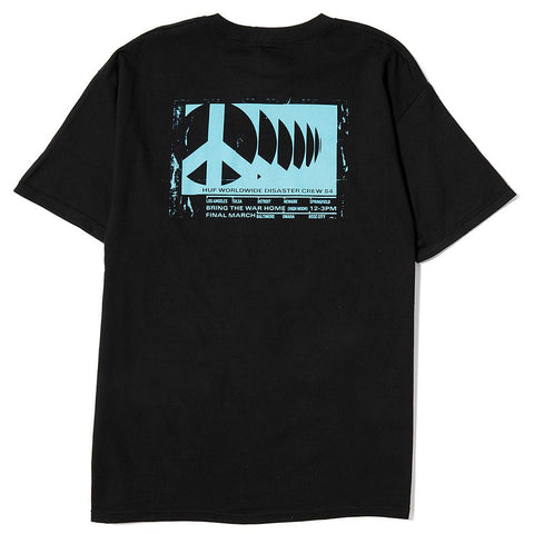 HUF RIOT T-SHIRT / BLACK