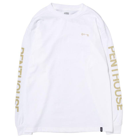 HUF X PENTHOUSE LS T-SHIRT WHITE / GOLD - 1