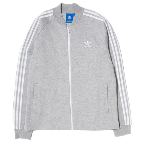 ADIDAS SUPERSTAR PREMIUM TRACK JACKET / MEDIUM GREY HEATER