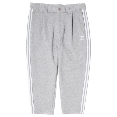 style code BK7292. ADIDAS NYC TAPERED 7/8 PANT / MEDIUM GREY HEATHER