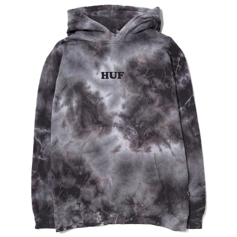 HUF X SPIKE PULLOVER HOOD / LT GREY WASH