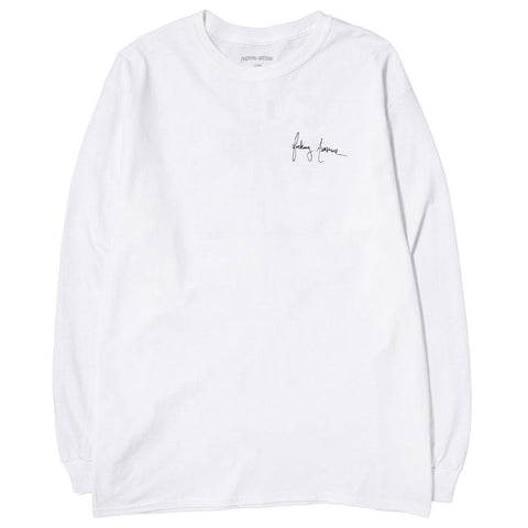 FUCKING AWESOME NEVER LONG ENOUGH LONG SLEEVE T-SHIRT / WHITE