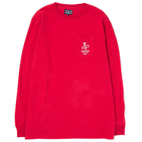 style code AGSP171011RED. ACAPULCO GOLD LAST HOPE POCKET LONG SLEEVE / RED