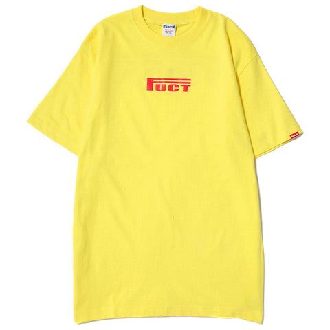 FUCT SSDD RACE LOGO T-SHIRT / YELLOW