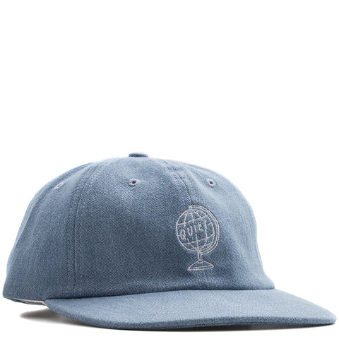 QUITE LIFE WORLD GLOBE POLO HAT / LT BLUE